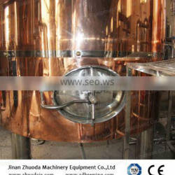 Red copper 1000L Conical fermenter Micro brewery Used brewery equipment for sale