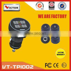 Wireless car tpms with accurate data display on LCD screen