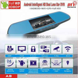 DTY car wireless reversing camera with rearview mirror,front rear view car camera,A8