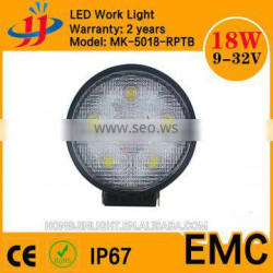 round shape 18w led work light with super bright IP67