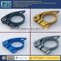 Custom high precision color bicycle seat post clamp