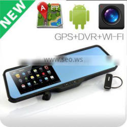Car Android GPS Bluetooth Wifi camera 4.3'' mirrors type DVR with 360 degree car camera system