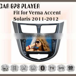 Fit for Hyundai verna/accent/solaris 2011-2012 car multimedia player with gps