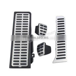 Car Gas Accelerator Oil Footrest Plate Clutch Throttle Aluminum Alloy Brake Pedal Covers Rubber For VW Golf 6 GTI MK6