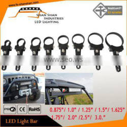 Round Roll Cage 1.75inch 44mm Mount Bracket Clamps Fit Bullbar Rigid Light Bar