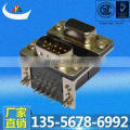 Professional Manufacturer of Dual port d-sub 9p female to 9p male right angle Dip Connector