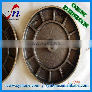 2017 customized iron cover with sand casting