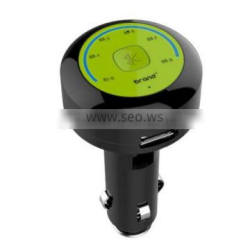 FM bluetooth handsfree car kit charge for iphone via USB