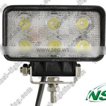 10-30v 18w auto led work light 6PCS*3W led driving lights with CE RoHS and IP67 certificated for Auto,TRUCK,CAR,BOAT,ATV,JEEP