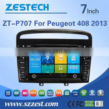 ZESTECH China Factory OEM ODM 2 din car dvd for Peugeot 408 touch screen car dvd car gps