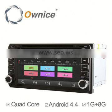 Android 4.4 up to android 5.1 Ownice C180 automotive stereo for Toyota RAV4 Corolla Camry 800*480 Support OBD