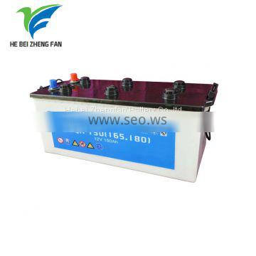 N165 dry charged battery lead acid auto starter car battery middle bus battery middle truck battery