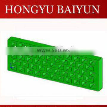 Manganese steel and alloy steel grates