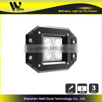 Original Design Manufacturer 4.8inch Aluminum housing surface mount IP68 Super bright C ree 12W motorbike LED driving light