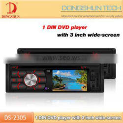 new design auto car dvd 1din with wide HD screen