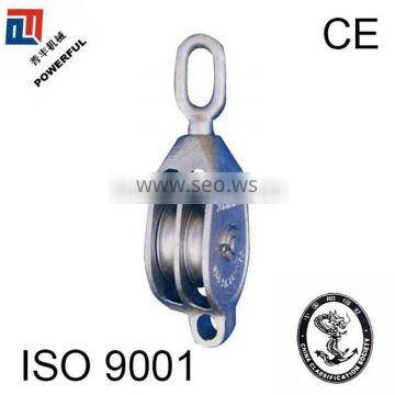 SINGLE SHEAVE GALVANISED MALLEABLE CAST IRON PULLEY