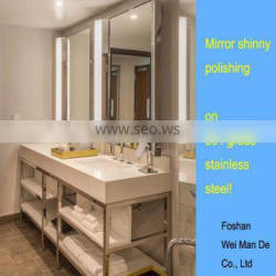 double sink metal washstand base for king room of hotel