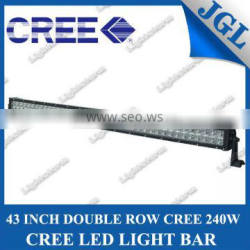 professional cree light bar supplier, 240w led light bar,spot/flood/comb beam double row headlight for offroad jeep trucks boat
