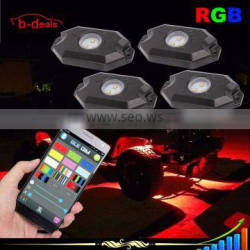 Auto Parts APP Bluetooth Remote Controller 12V 24V 9W RGB Led Rock Light