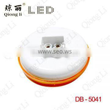 12 volt 4inch round amber sealed multifunction led stop turn tail light for truck trailer