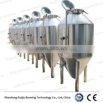 Beer brewing equipment dimple plate conical fermentation tanks for sale