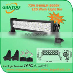 Promotion 72W dual rowswholesale led lig for tractor off-road ATV heavy duty equipment 72w led light bar