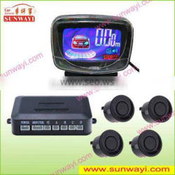 Hot selling LCD car reverse parking sensor builit-in buzzer car alarm security system