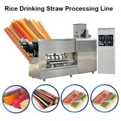 Degradable edible rice tapioca starch drinking straw making machine processing line