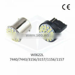 Bonjour LED Auto Light T20 7440 7443 22SMD 3020 1206 with CE
