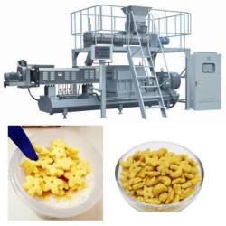 Twin Screw Extruder Corn Flakes Cereal Machine