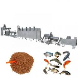 tropical fish food pellet extruder making pellet mill machinery floating fish feed production line