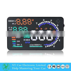 "Wholesale 5.5"" Car HUD Head Up Display Fuel Consumption MPH monitor XY-HUD208"