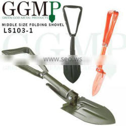 Compact Carbon Steel auto emergency camping survival Tri-fold shovel tool