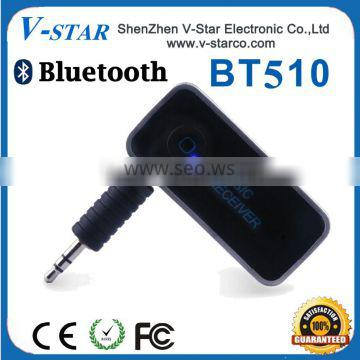 Mini Wireless Bluetooth 4.0 Audio Music Streaming Receiver Adapter with 3.5 Mm Stereo Output and Hands Free Calling for Car