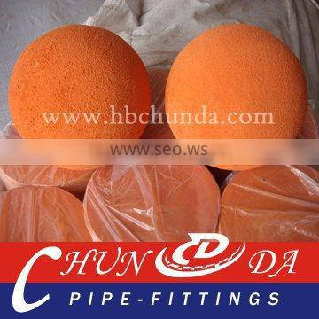 DN125 Natural Sponge,soft Concrete pump cleaning ball for PM