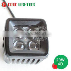 Made in China 20w led work light ip68, 4D 3inch 20w led work light ip68