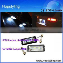 LED license plate lamp China factory for R56 canbus license plate lamp No error code car led light emark