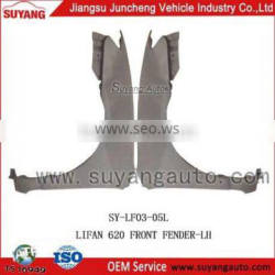 Hot sale JUNCHENG LIFAN 620 front fender importers of auto parts