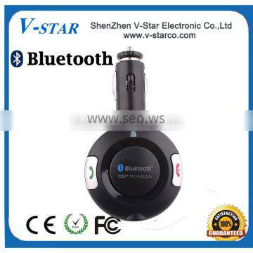 Wireless Bluetooth car kit with Charger Sun Visor Hands-free Phone System Automatically Connect the Voice Prompt
