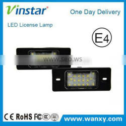 LED Registration plate light auto led number plat lamp for Por.sche /for V.W Touareg Tiguan Golf5 5D Passat/ for Audi TT