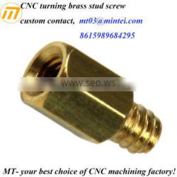 china supplier brass knurled thumb screw nut