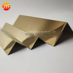stainless steel l shaped chrome metal tile trim corners