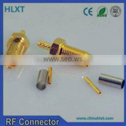 sma brass electrical connector with bulkhead and compression mount type terminal