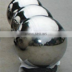 Made in China large stainless steel garden ball