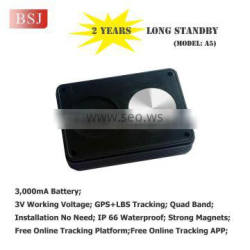 Long Standby car gps tracker lasting battery smallest gps tracker device A5B
