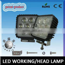 Epistar super bright waterproof IP68 RGD1006 35w square led working light for suv
