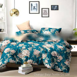 custom woven fabric 100% polyester disperse printing hotel bed sheets for home textiles