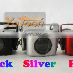 Car rearview camera with guard line function and CCD effect