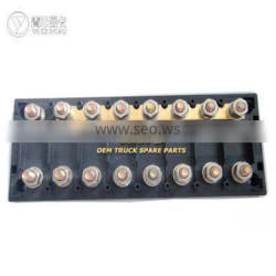 9-way fuse box for vehicle, transparent cover fuse box,fuse box with screw type fuse