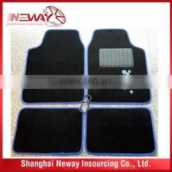 PVC and velour carpet mat with logo embroidery